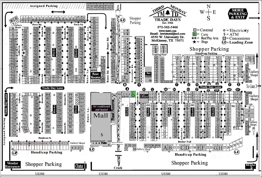 Home - Third Monday Trade Days Canton Trade Days Map on